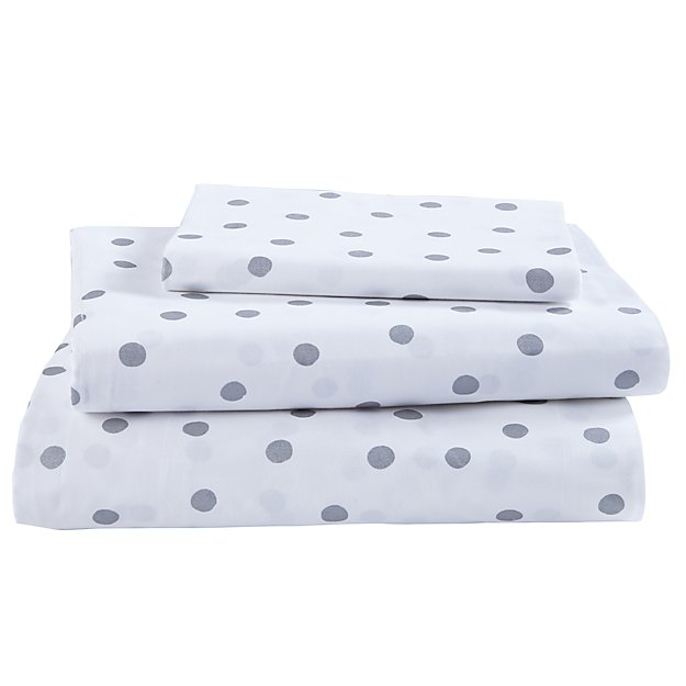 Organic Silver Dot Twin Sheet Set