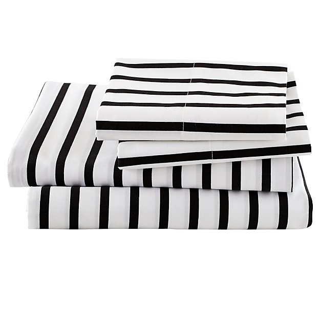 Organic Noir Stripe Queen Sheet Set