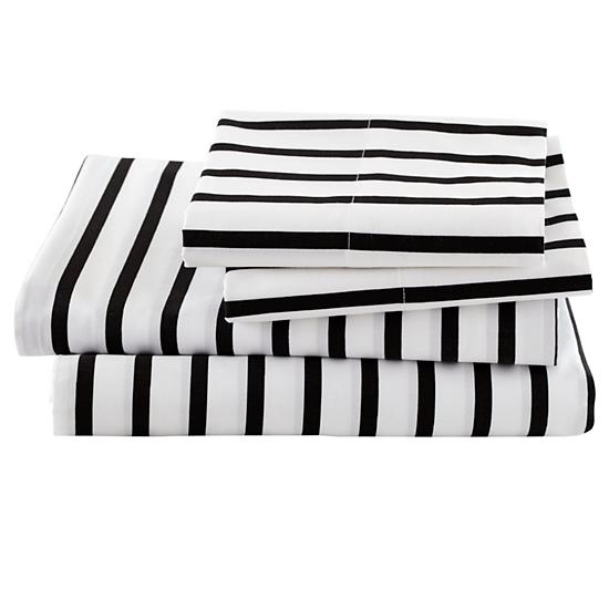 Black And White Stripe Sheets Queen The Land Of Nod