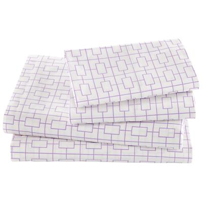 Window Pane Lavender Sheet Set (Full)