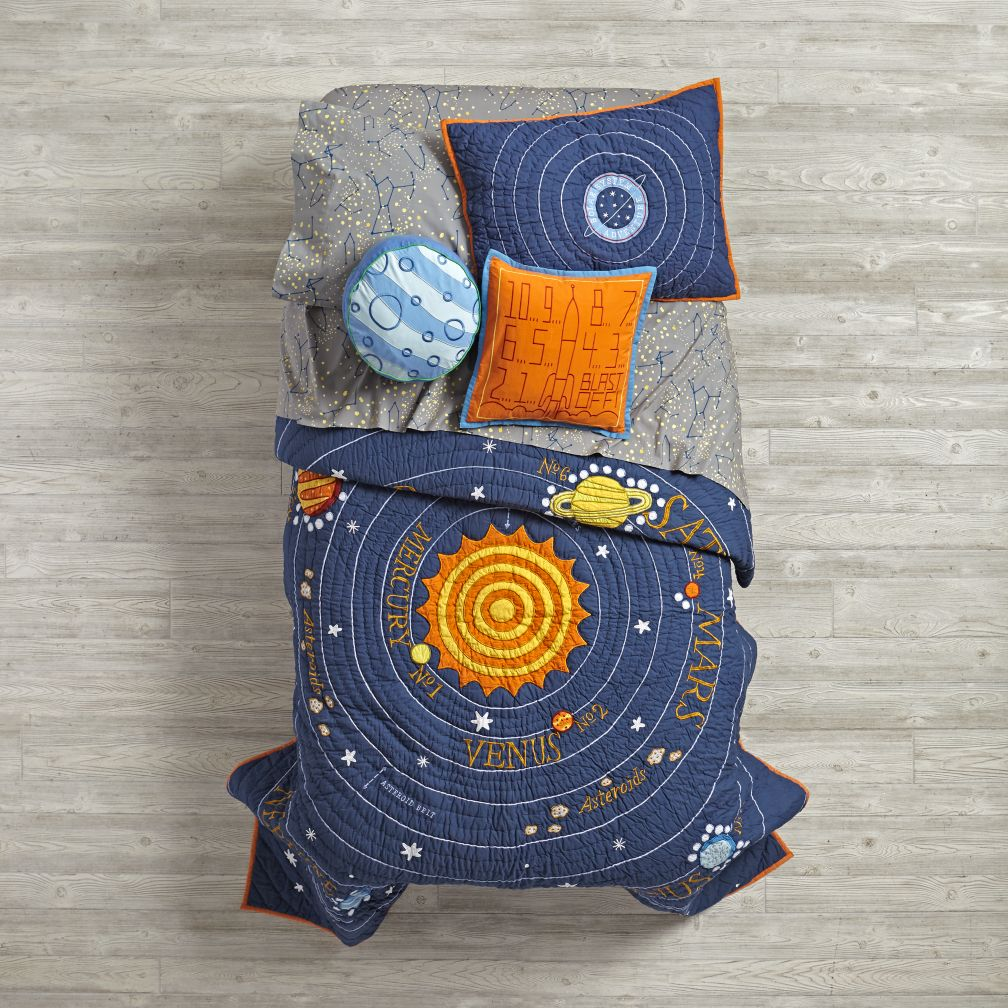 Kids Blue Solar System Bedding The Land Of Nod