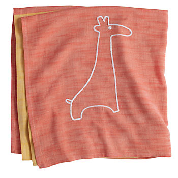 Mod Menagerie Blanket (Yellow Giraffe)