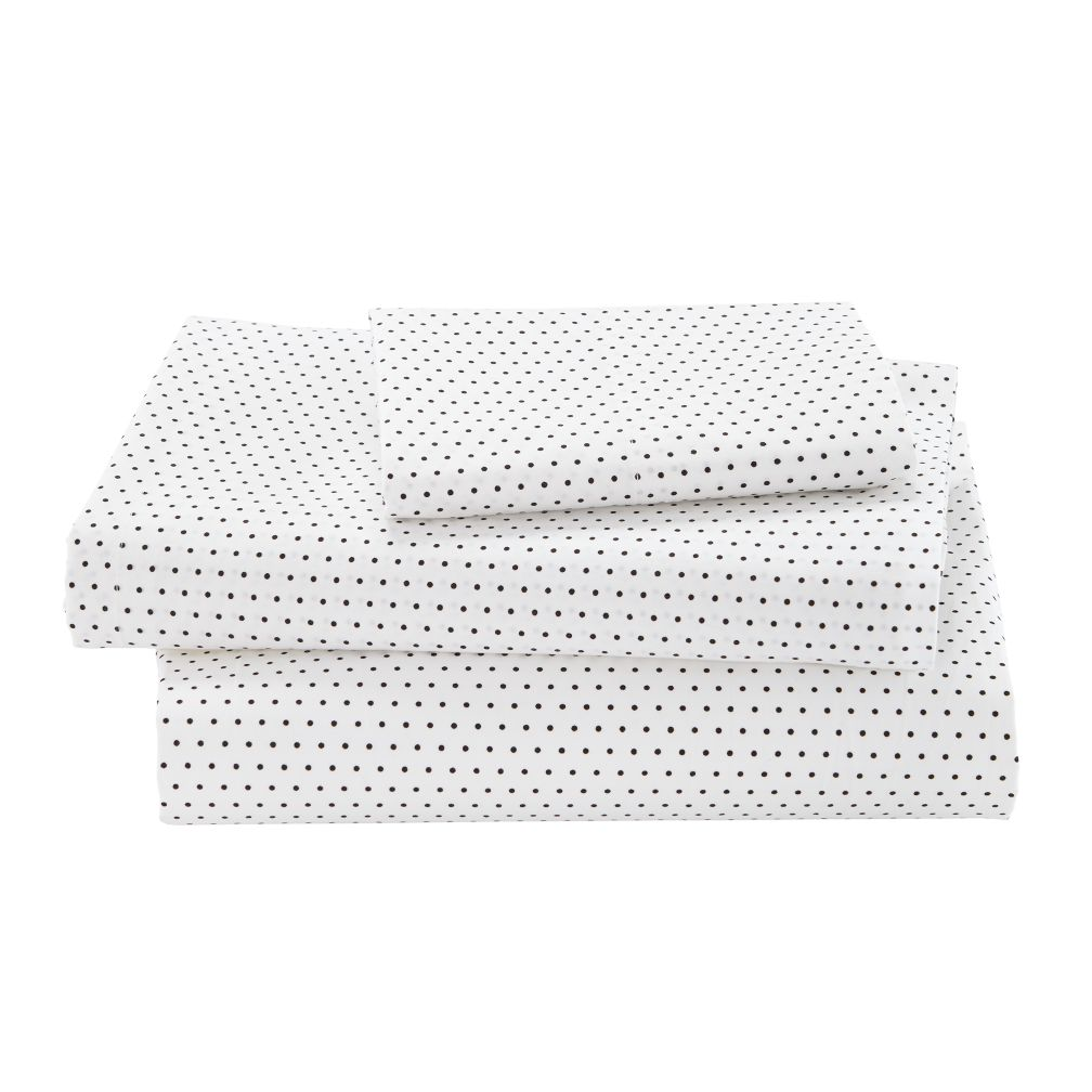 Organic Swiss Dot Twin Sheet Set