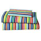 Multi Candy Stripe Toddler Sheet Set Includes fitted sheet, flat sheet and one toddler pillowcase