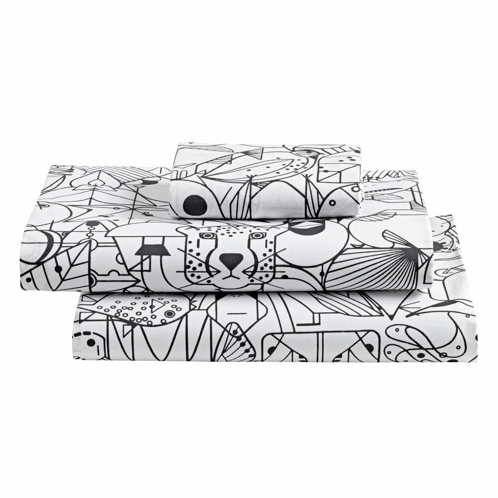organic charley harper animal toddler sheet set the land of nod - Charley Harper Coloring Book