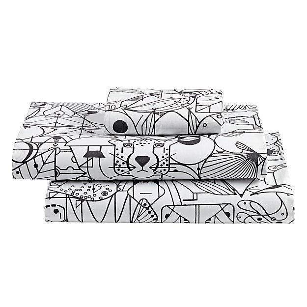 organic charley harper animal toddler sheet set - Charley Harper Coloring Book