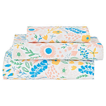 Organic Floral Rush Toddler Sheet Set