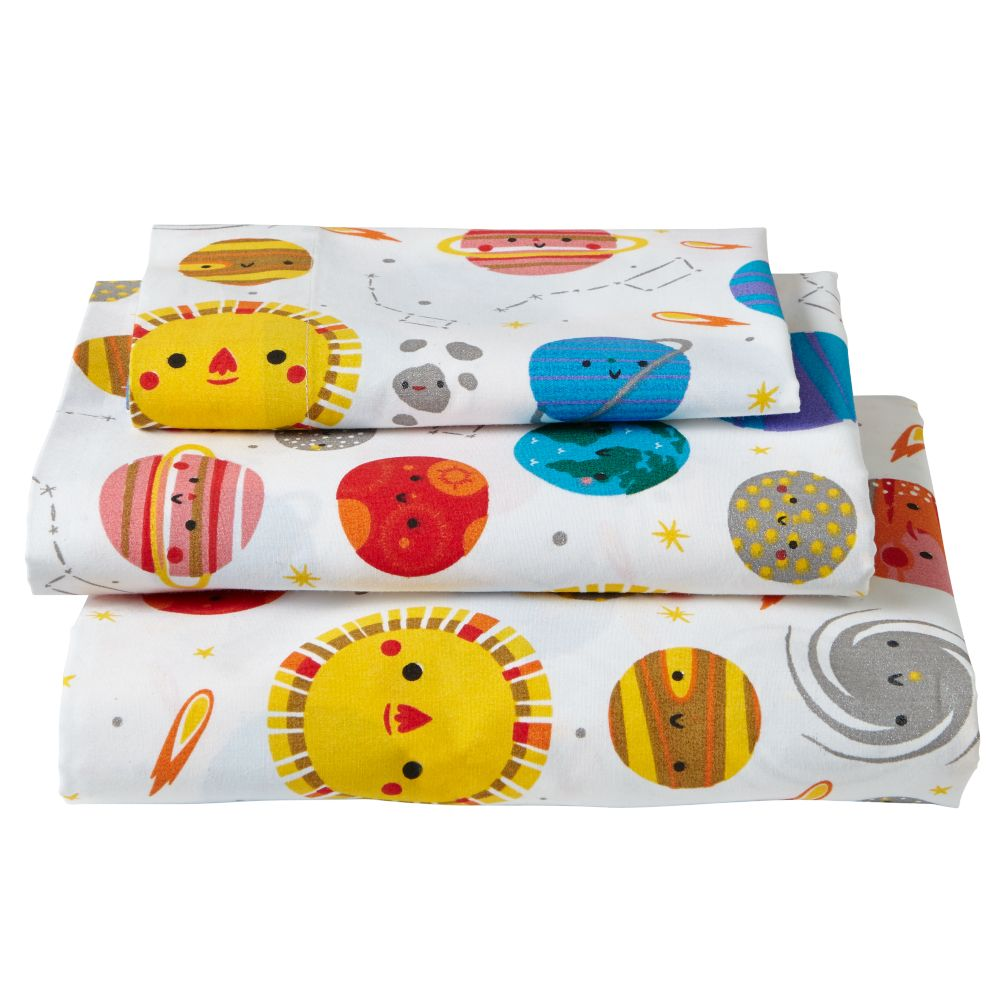 Organic Deep Space Toddler Sheet Set