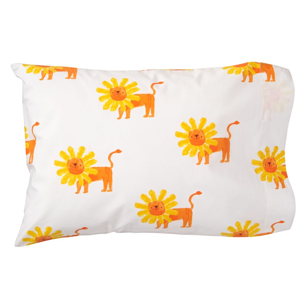 Organic Wild Excursion Lion Toddler Pillowcase