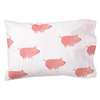 Organic Wild Excursion Pig Toddler Pillowcase
