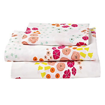 Organic Flower Show Toddler Sheet Set