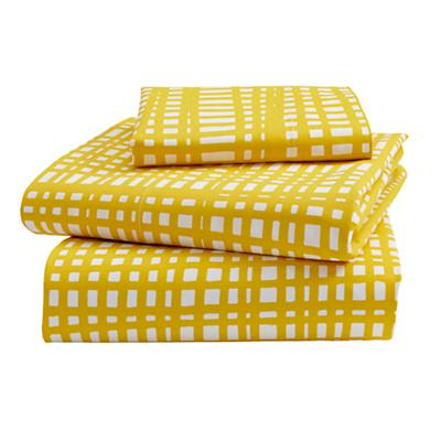 Mod Botanical Toddler Sheet Set (Yellow Hatch)