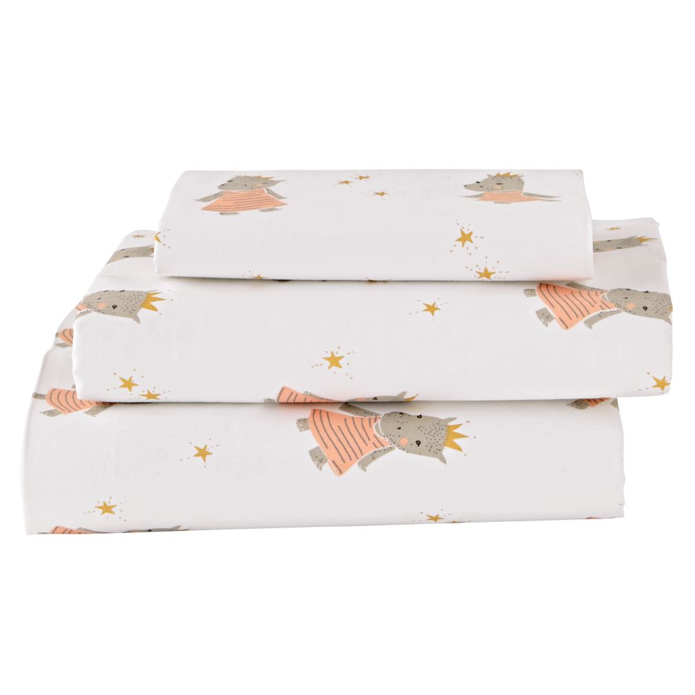 Organic Royal Hippo Toddler Sheet Set