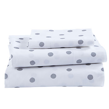 Organic Silver Dot Toddler Sheet Set
