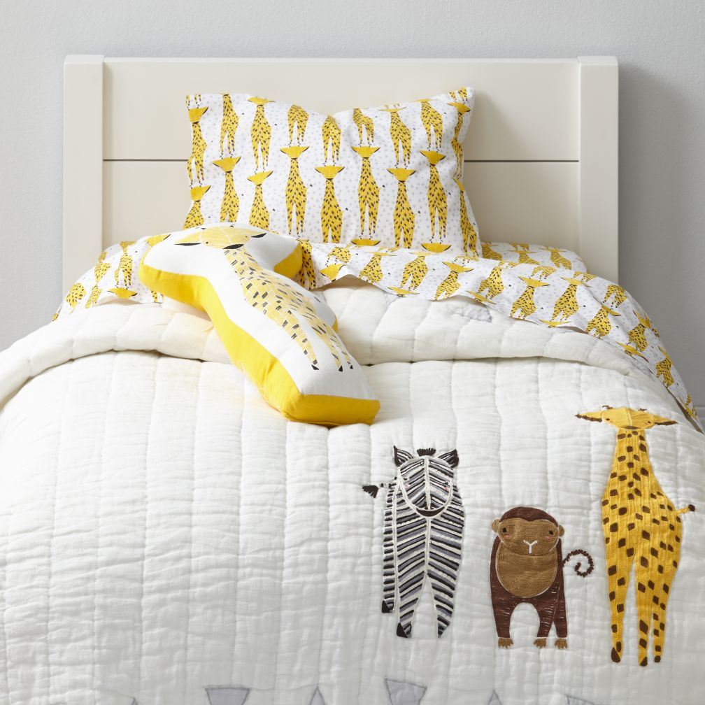 Savanna Toddler Bedding Giraffe The Land Of Nod
