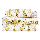 Savanna Giraffe Toddler Sheet SetIncludes fitted sheet, flat sheet and one toddler pillowcase