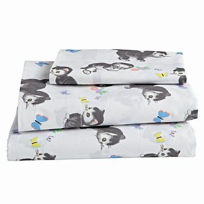 Organic Shy Little Kitten Toddler Sheet Set