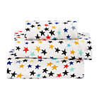 Superstar Jersey Toddler Sheet SetIncludes fitted sheet, flat sheet and one toddler pillowcase