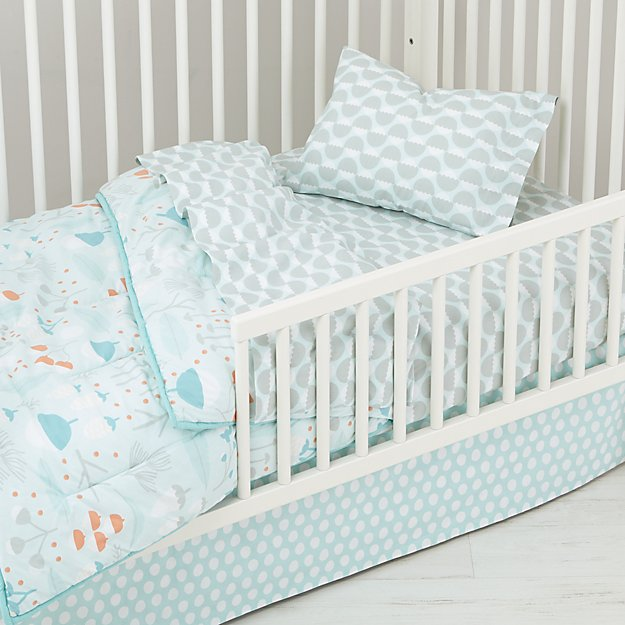 Well Nested Toddler Bedding Blue The Land Of Nod