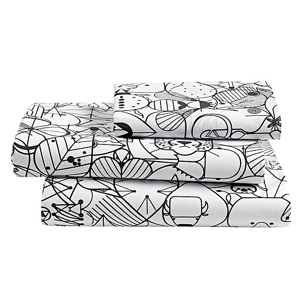 organic charley harper animal twin sheet set - Charley Harper Coloring Book