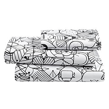 Organic Charley Harper Animal Twin Sheet Set