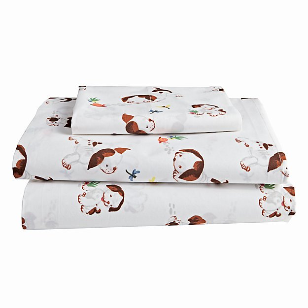 Organic Poky Little Puppy Twin Sheet Set