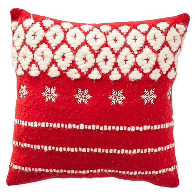 Holiday Sweater Throw Pillow