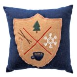 Holiday Crest Throw Pillow