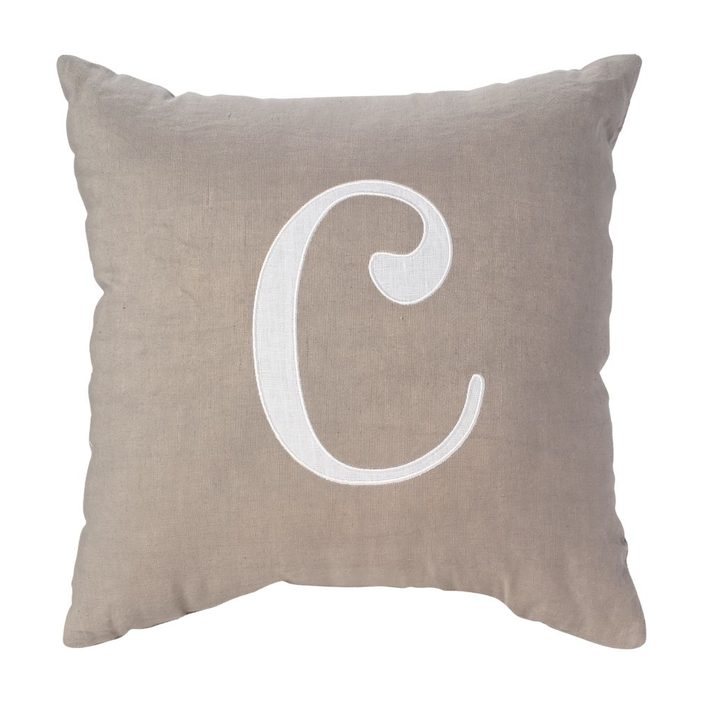 'C' Typeset Throw Pillow