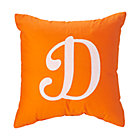 'D' Typeset Orange Throw Pillow