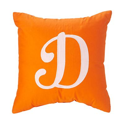 'D' Typeset Throw Pillow