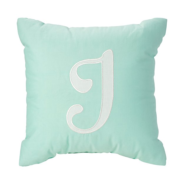'I' Typeset Throw Pillow