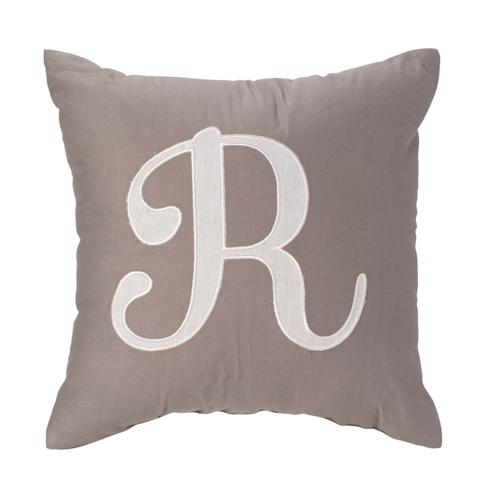 'R' Typeset Throw Pillow