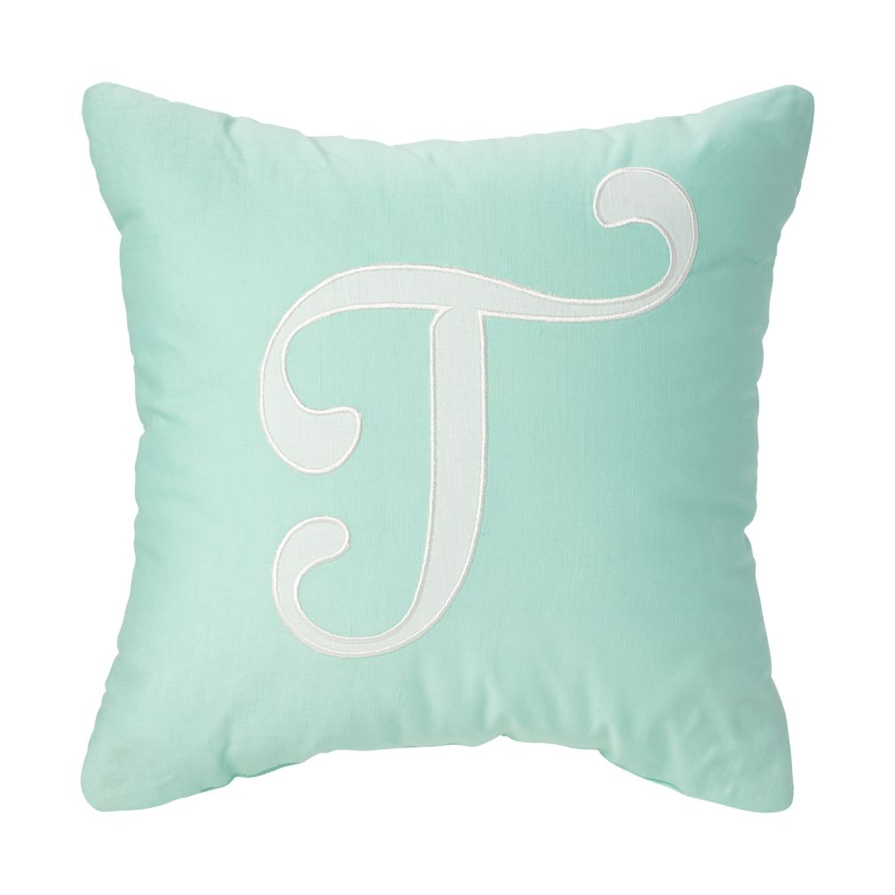 'T' Typeset Throw Pillow