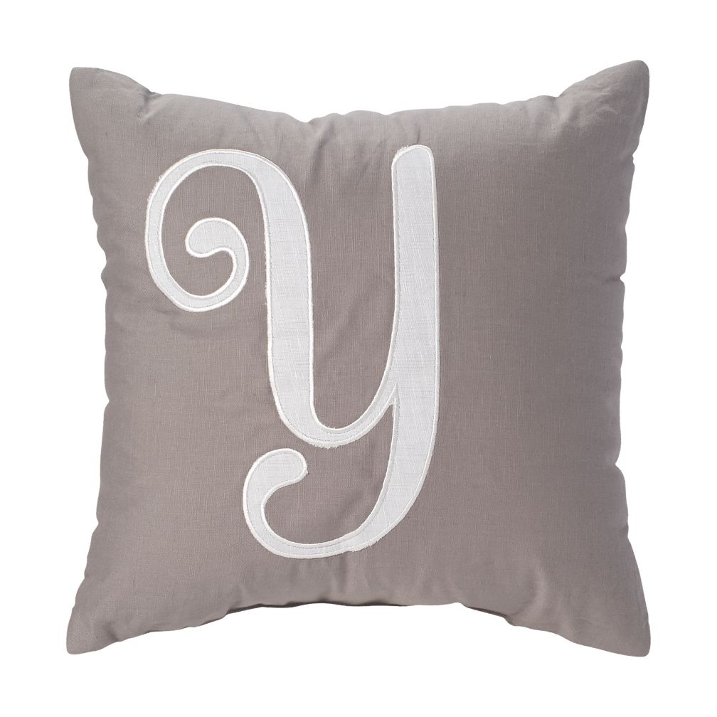 'Y' Typeset Throw Pillow