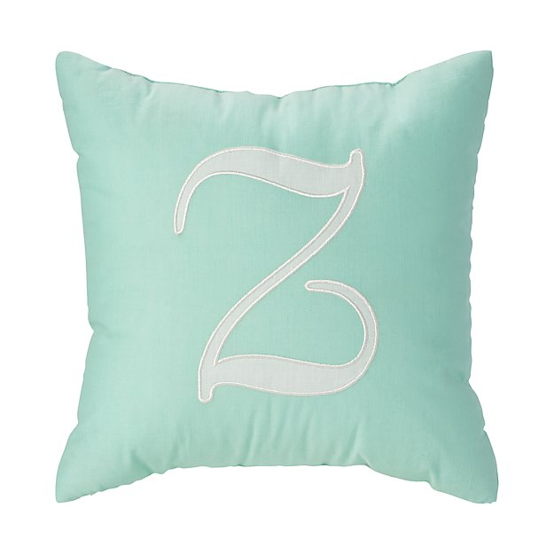 'Z' Typeset Throw Pillow