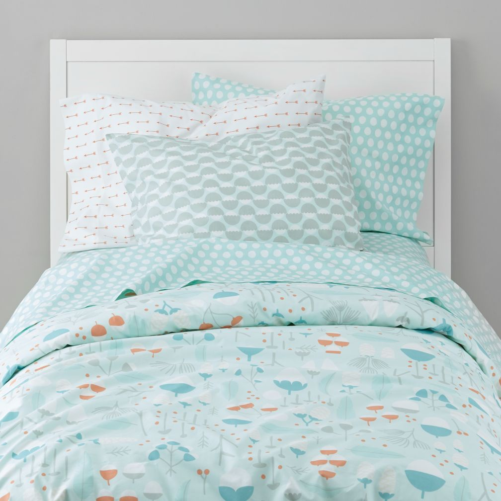 Organic Well Nested Blue Duvet Cover