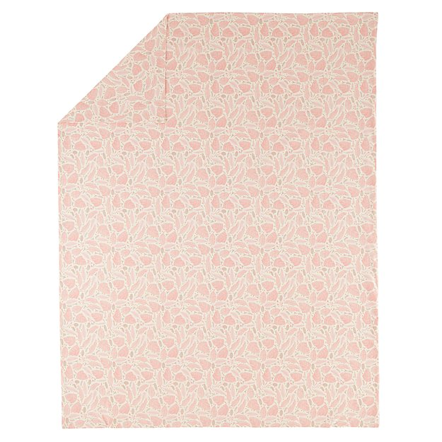 Organic Well Nested Pink Full-Queen Duvet Cover