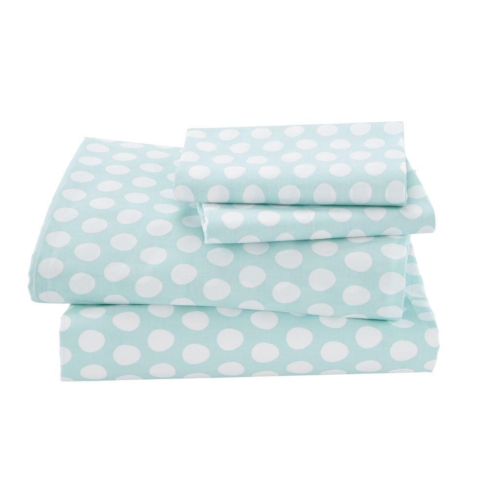 Organic Well Nested Blue Queen Sheet Set
