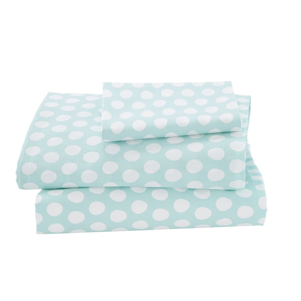 Organic Well Nested Blue Twin Sheet Set