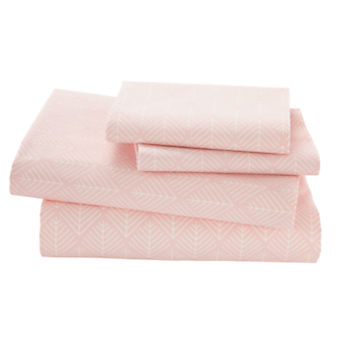 Organic Well Nested Pink Full Sheet Set