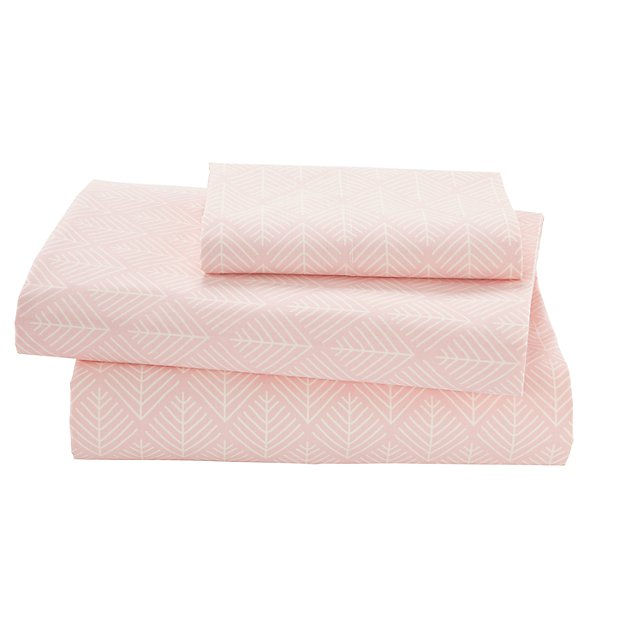Organic Well Nested Pink Twin Sheet Set