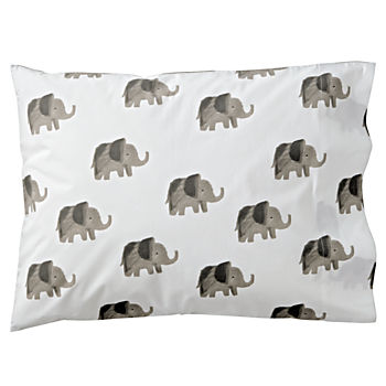 Organic Wild Excursion Elephant Pillowcase
