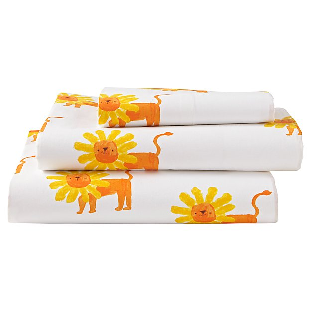 Organic Wild Excursion Lion Twin Sheet Set