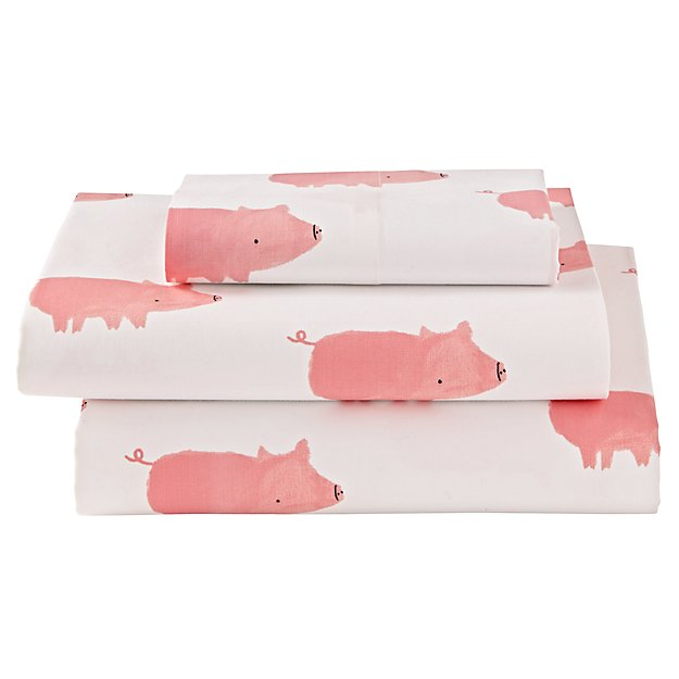 Organic Wild Excursion Pig Twin Sheet Set