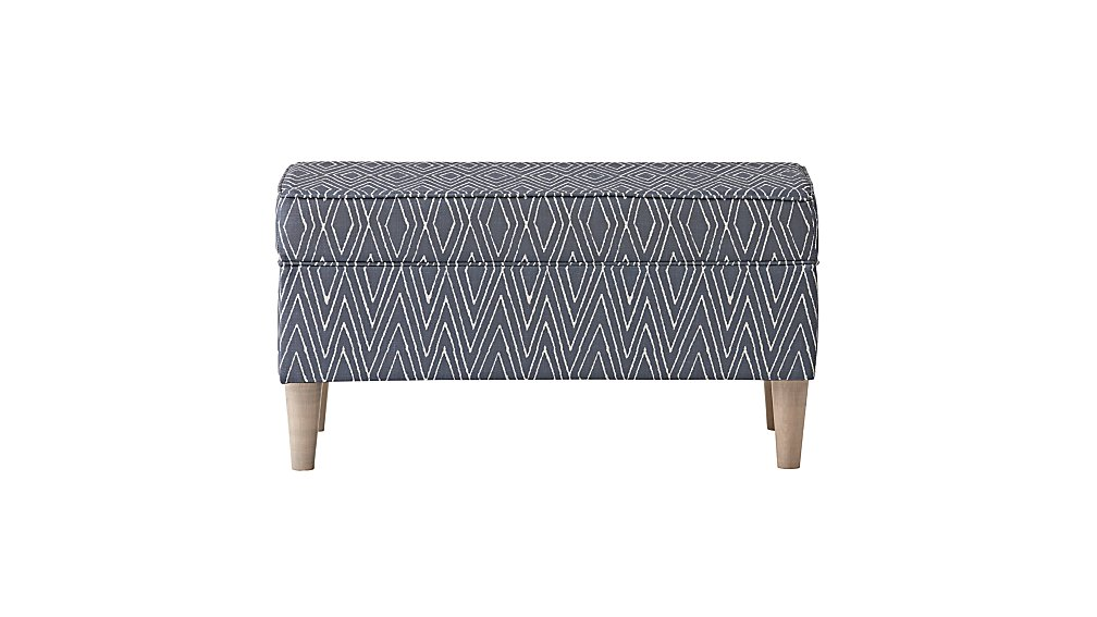 Upholstered Storage Bench (Dodson Denim)