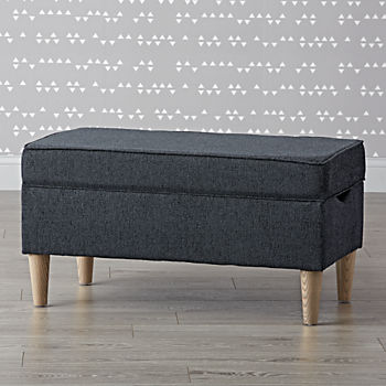 pin it aiden eclipse upholstered storage bench