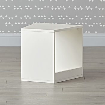 Modular White Storage Cube Bench