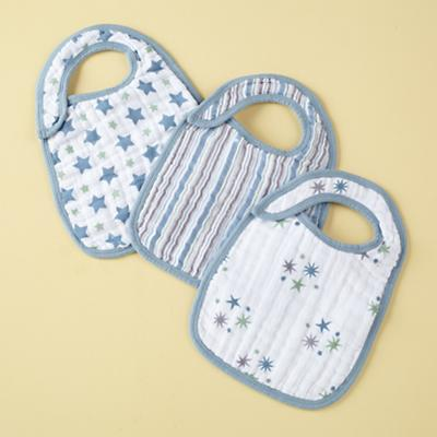 Stars Snap Bibs (Set of 3)