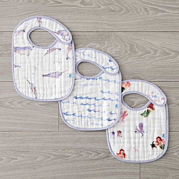 Little Unicorn Ocean Friends Bibs (Set of 3)